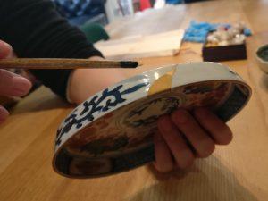 Kintsugi bowl and artist
